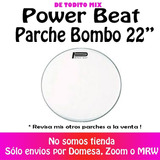 Parche Bombo 22 Blanco Power Beat Usa Serie Nuevo