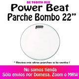 Parche Bombo 22 Blanco Power Beat Usa Serie Nuevo