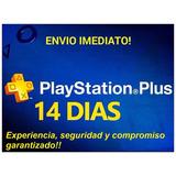 Membresia Psn Plus 14 Dias Psn Ps3 Ps4 Vita ¡recibes Hoy!