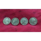 Monedas De Un Cuarto De Dolar Año 1776-1976-1973-1968