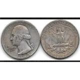 Moneda Un Cuarto De Dolar, Plata- 1945.   10