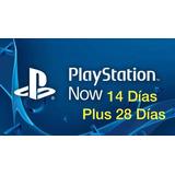 Playstation Plus 28 Días Y Playstation Now 14 Días