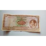 Billete Antiguo 100 Bolivares V2751931 Marzo/18/1969