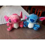 Peluches De Stitch Azul Y Rosado Medianos ¡¡ya Disponibles!!
