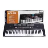 Teclado Piano Rollins Rol-266 Keyboard Led Discplay 61- Key