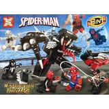 Minifiguras Armables Sx4003 Spiderman Vs Robot De Venom 8en1