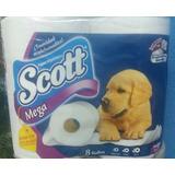 Papel Toalet Higienico Scoott 8 Rollos 500 Hojas Al Mayor