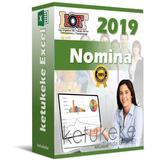 Nomina 2019 Control Recibo De Pago Lottt Plantilla Hoj Excel