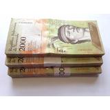 272 Billetes 2000 Bolívares. Agosto 2016. Nuevos