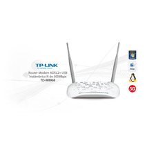 Modem Adsl2+ Routers, Wifi 300mbps, Usb 3g Tp-link Td W8968