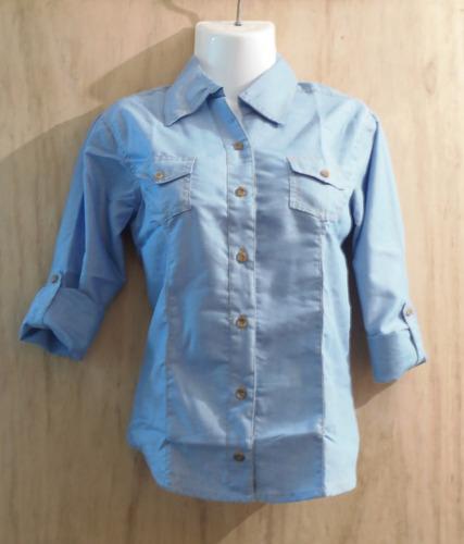 4036b957a0a29 Camisas De Jean Para Niña Marca East Coast Tallas 6 A La 16