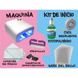 Maquina De Hacer Sellos+ Kit De Inicio+10 Sellos Automaticos