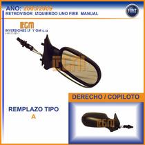 Retrovisor Derecho Fiat Uno Fire 2005 Al 2009 Manual