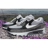 Nike Airmax 90 Gris Con Blanco