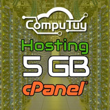 Web Hosting Y Dominio (.ve), Cpanel - 5gb De Espacio X 1 Año