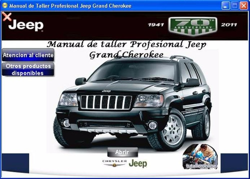 manual de taller y reparación jeep grand cherokee 1999-2005 - 1500