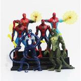 Coleccion De 6 Figuras Spiderman Venom Articuladas 16cm