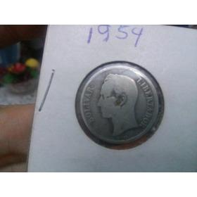 Moneda De 1 Bolivar De Plata Año 1954
