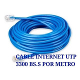 (2600 Bs.s Por Metro) Cable Utp Internet Cat5e Cctv Redes