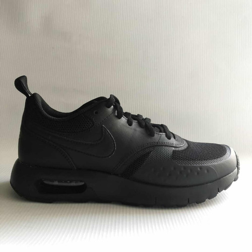 456a2d0657a Zapatos Nike Air Max Negros Para Niños De Cuero Original