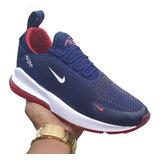 Zapatos Nike Airmax 270 Azul Y Rojo Para Damas Y Caballeros