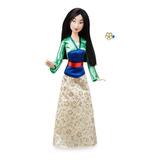 Muñeca Clásica Disney Mulan Original Con Anillo 12 Pulgadas