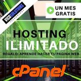 Web Hosting Y Dominio, Cpanel Espacio Ilimitado 1 Año
