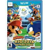 Mario & Sonic At The Rio 2016 Olympic Games Para Wii U (25v)