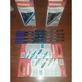 Bolígrafos Kores Azul Y Negro De 12 Y 24unidades