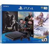 Playstation 4 1tb Slim Nuevo + 3 Juegos Tienda Física