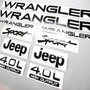 Calcomanías Jeep Wrangler Cj Tj Yj Rústicos Emblemas Jeep Wrangler