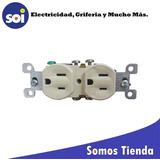 Toma Doble 270 2x15ac+ Tierra Marfil Levinton Tom-11