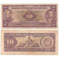 Billete De 10 Bolivares 1961 Serial J7