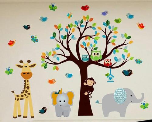 Vinilos decorativos arboles bebe infantiles cuartos bs f - Vinilos arboles infantiles ...