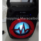 Radio Portatil Corneta Con Bluetooth Usb Recargable Luz