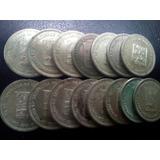 Monedas De 25 Centimos De Plata. Medios.