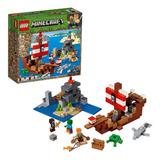 Lego Minecraft 21152 Aventuras Del Barco Pirata 386 Pzs