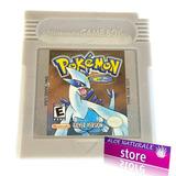 Juego Original De Pokémon Silver Plateado Game Boy Color