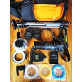 Cámara Profesional Nikon D3100 Con Accesorios
