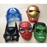 Mascara Disfraz Avengers Capitan Amer Spiderman Hulk Ironman