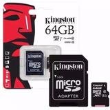 Memoria Kingston Micro Sd 64gb Con Adaptador Clase 10