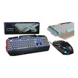 Kit Teclado Y Mouse Gamer Metal 3600 Dpi Full Color Luz 2700