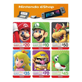 Tarjeta Regalo Nintendo Eshop 3ds Switch Codigo Digital Acd