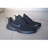 Kp3 Nuevo ! Zapatos Nike Presto Fly All Black Caballeros