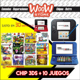 Chip 3ds 2ds + 10 Juegos | Tienda Física Sabana Grande