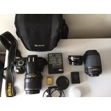 Nikon Camara D3100 + 3 Lentes + Bolso Abit + Accesorios