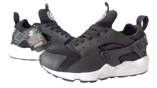Zapatos Nike Airmax Huarache Negro Para Damas Y Caballeros a8bf6c9555278