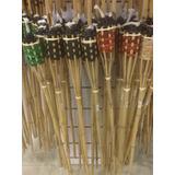 Antorchas De Bambu  Grandes Decorativas