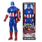 Muñecos Marvel Titan Hero Avengers  Capitan America Serie
