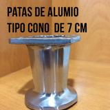 Patas Para Muebles De Aluminio 7 Cm Tipo Cono Somofabricante